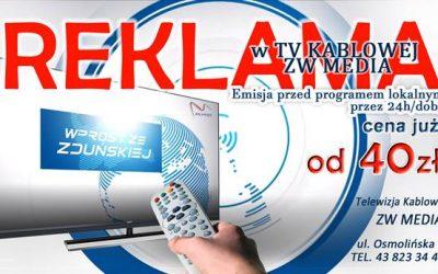 Reklama w TV kablowej ZW MEDIA